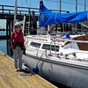 "Lisa preparing to board ""New Freedom"""