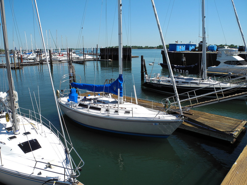"""""""New Freedom"""" in her slip at Consolidated Yachts, City Island, Bronx NY"""
