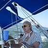 Eileen at the helm