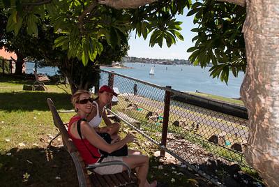 Cockatoo Island Feb 2010 with Anne