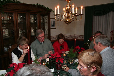 Christmas Bridge Group dinner 2006