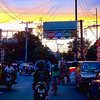 Sunset on the street of Binondo.