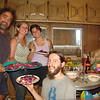 We cooked and ate the red cabbage with my English WWOOF'ers and Dez, it was delicious!