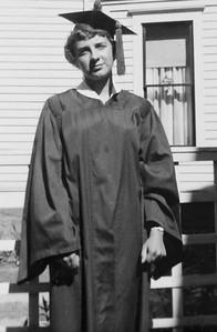 Nancy Adams, high school graduation.