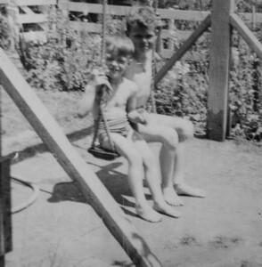 Robert and Ernie Krumm, probably around 1940-45