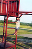 Nicole on playground at Hester