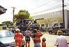 Harold semi in Ewing Day parade 8-8-98