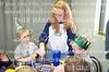 Lana cutting cake