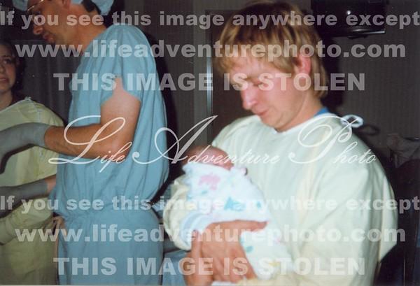 5-30-96 Donny holding Jennifer