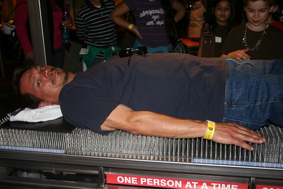 Ron on the bed of nails