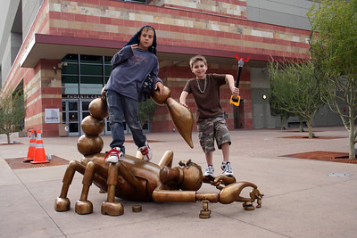 Kevin & Noah in front of the Phoenix Convention Center