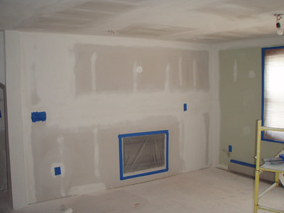 Old fireplace is gone!