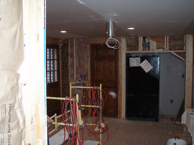 Drywall started ...