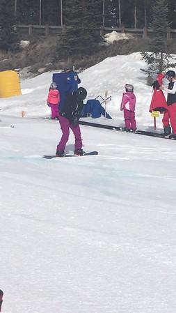 Rachel snowboard