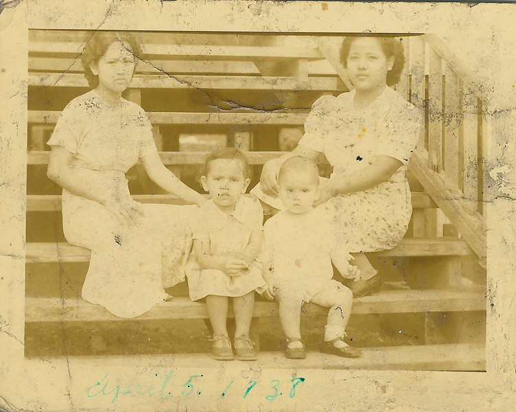 Mama, Mary, Sonny and Auntie Cicing (Cecilia)<br /> 1938