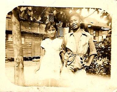 Lil with Pablo<br /> Cagayan de Oro<br /> 1950