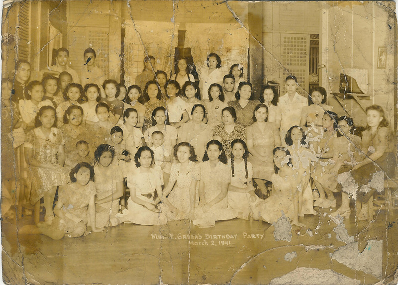 1941 Mama's Birthday Party, <br /> 9 months before Pearl Harbor.