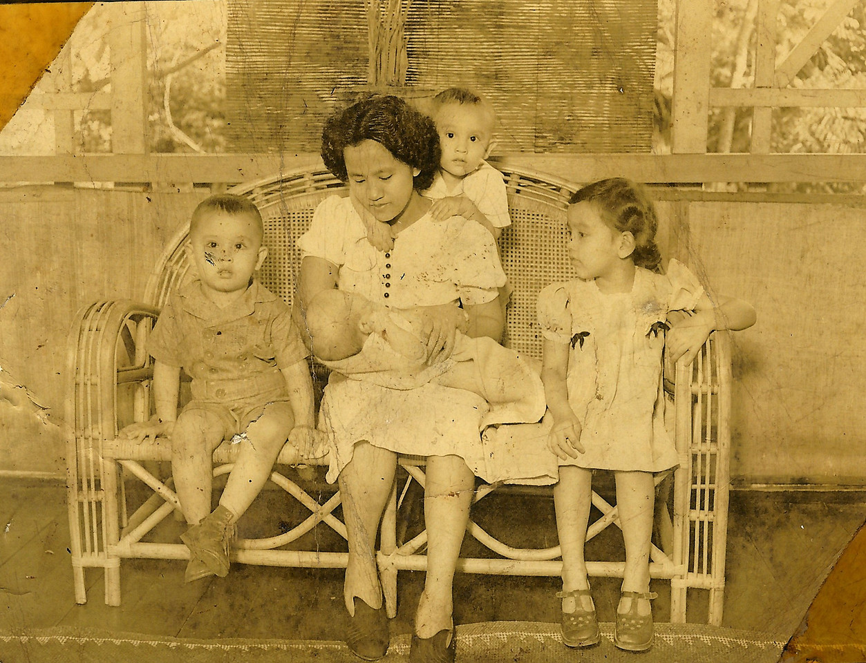 Sonny, Mama With Henry, Arthur, Mary<br /> 1940
