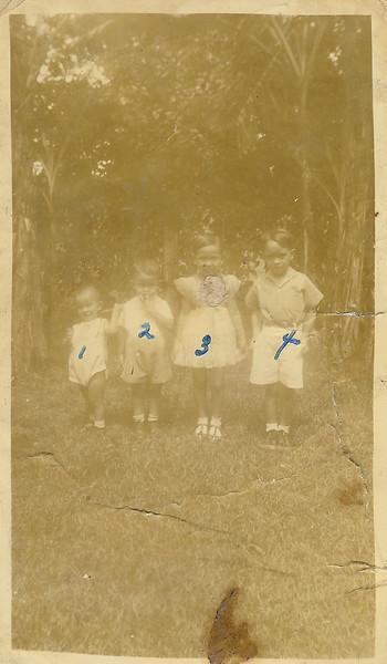 1. Arthur, 2.Sonny, 3. Mary, 4. Jaime
