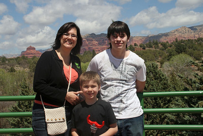 Julie, Josh & Noah in Sedona