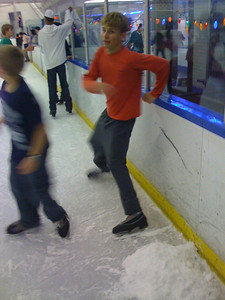 Snow pile on ice rink. That's my bro.