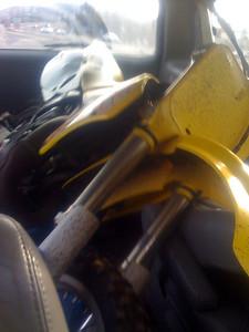 My very old dirtbike in our van