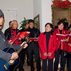 The surprize of the evening was the visit of the Fil-Am carolers. They sang to us, so eventually we sang with them.