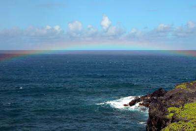 I caught a rainbow up close!