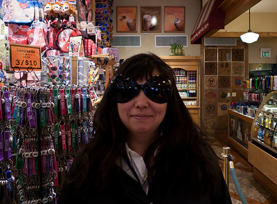 You always have to try silly glasses while on vacation.