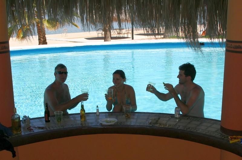 Self-service tequila bar with Ryan - La Paz, May 2008