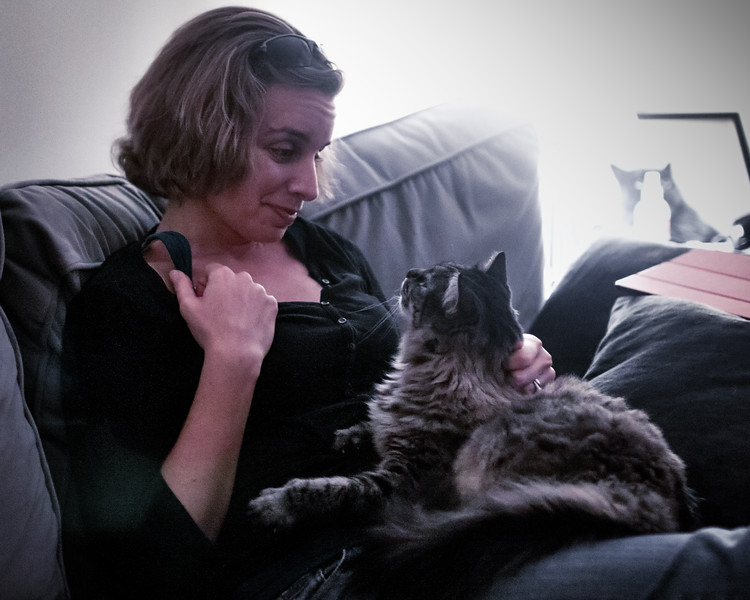 Amanda receiving birthday love from Lilith