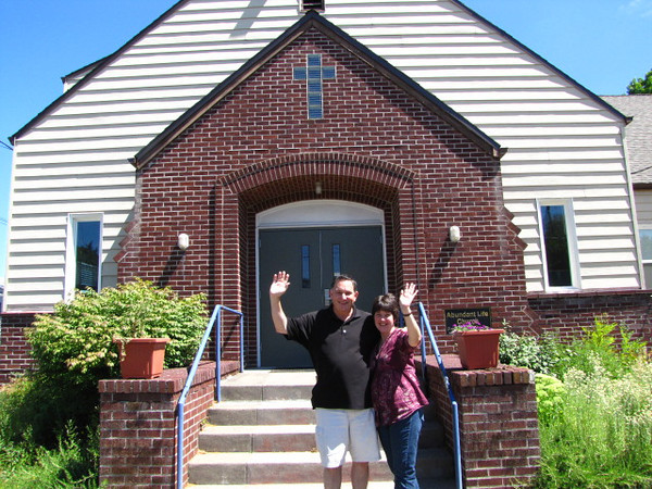 Pastors Charlie and Laurie Goessler and Abiding Place's new home!