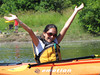 What a huggable girl in that there kayak.