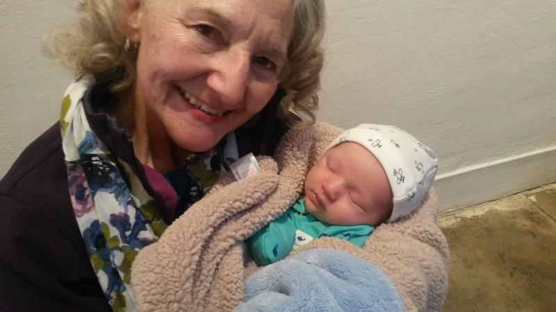 One proud Grandma ... One beautiful baby boy