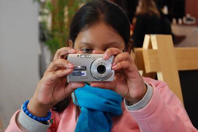 Sohini aims at the camera