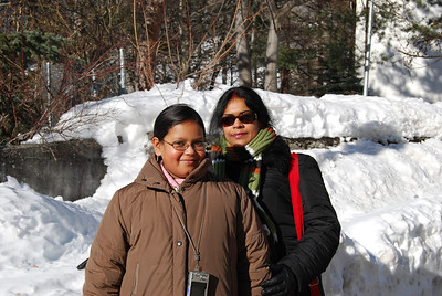 In Leukerbad: Sohini & Maitreyee