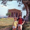 Outside a temple in Agrigento, Sicilia circa 1982.