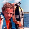 Scuba diving in Cozumel Mexico, circa 1984.