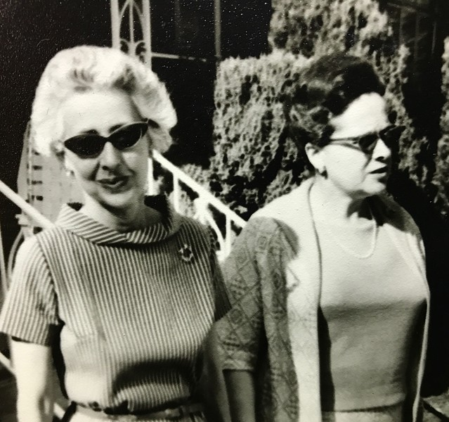 Therese Barmack and Sylvia Avrin meet at the Avrins in the spring 1964