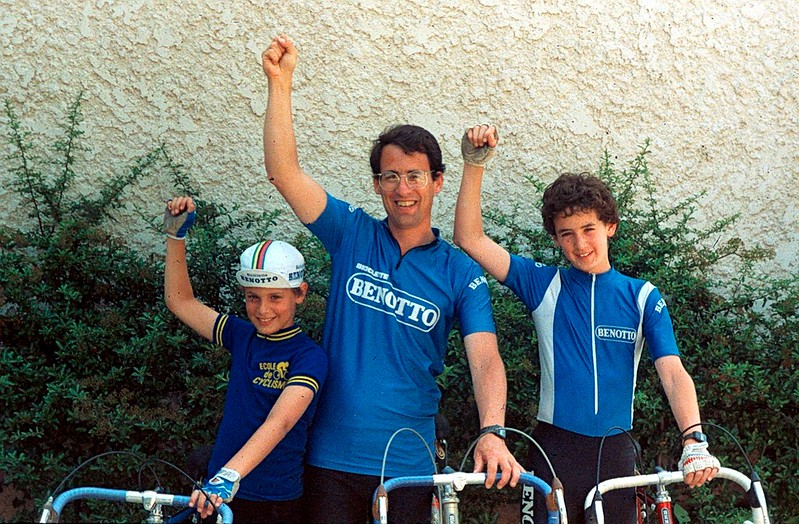 Three cyclists bought bicycles in Torino, Italy and then toured France in 1984.
