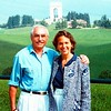 Ezio Marchetti and Judy Barmack in the hills of Asiago, Italy 1988.