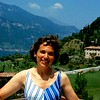 Judy on a hillside just outside of Como, Italia, circa 1986.