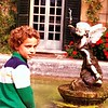Erik Barmack ponders tonsorial similarity with a Venetian putto outside a villa along the Brenta Canal in 1978.