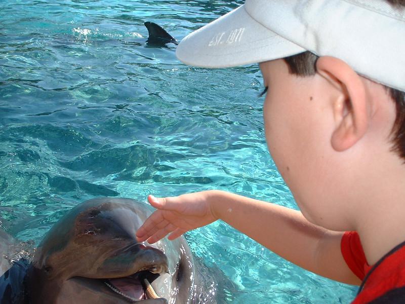 Derek with Dolphin close
