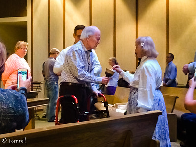 2016-08-28 Reprise: Harry Serving Communion at JKPC