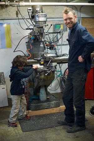 Visiting Colin's shop - 12/13/2014