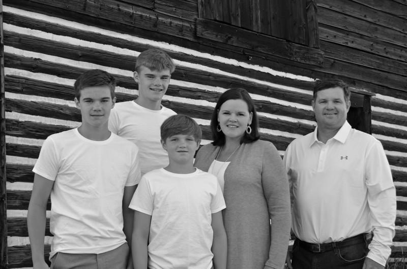 Heidi's family B&W-1