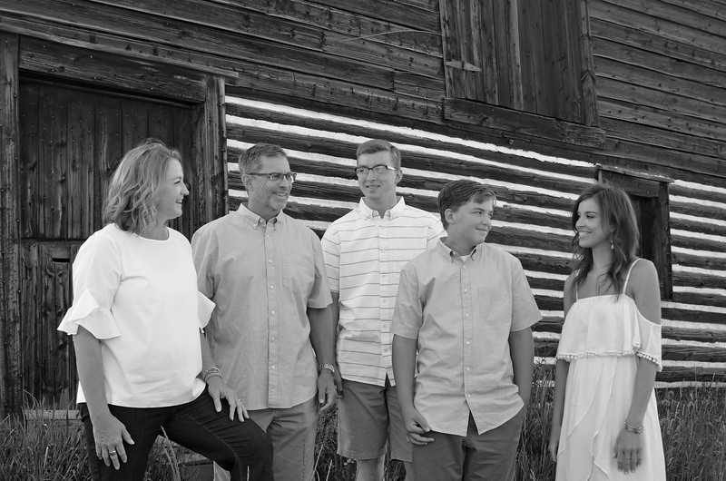 Mary's family B&W-07