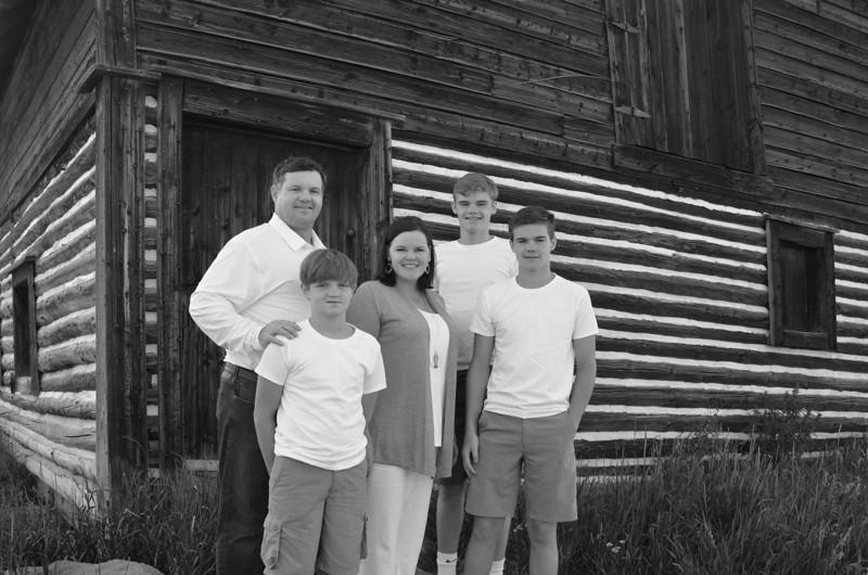 Heidi's family B&W-2