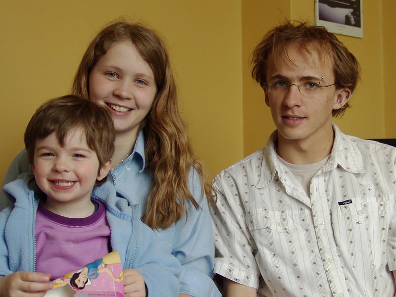 Stella, Danièle & Alain @ Danièle's birthday<br /> April 13, 2005<br /> Stella @ 3 years 4 months